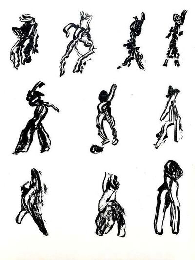 Henri Michaux, 'Henri Michaux - People - Original Lithograph', 1952