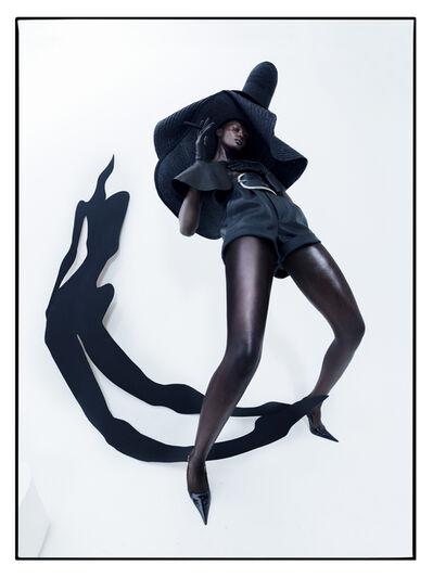 Tim Walker, 'Duckie Thot, Aubrey's shadow. Fashion: Saint Laurent. London, 2017', 2019