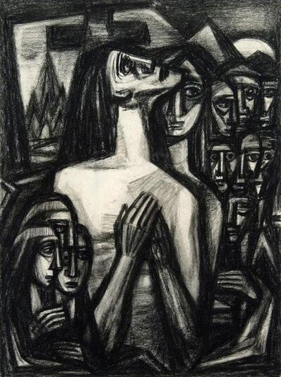 Emil Bisttram, 'Praying Woman', 1940s