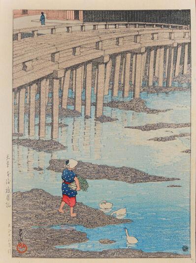 Kawase Hasui, 'Gionbashi, Amakusa', 1924