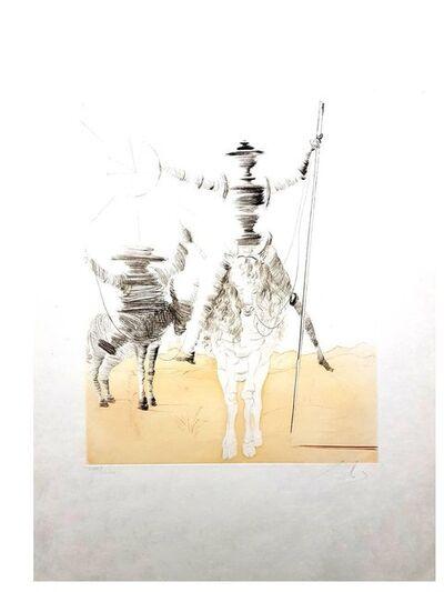 "Salvador Dalí, 'Original Etching rare ""Don Quixote et Sancho"" by Salvador Dali', 1980"