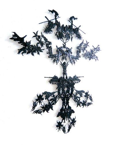 Fabrice Langlade, 'Masks, black pattern', 2010