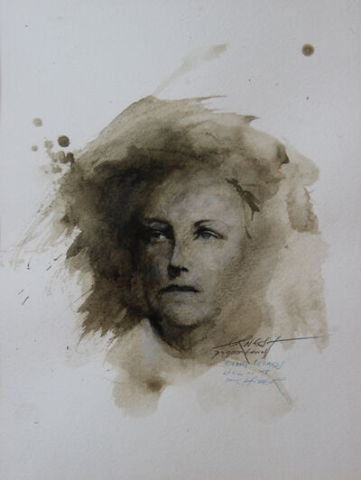 Ernest Pignon-Ernest, 'Regards, Rimbaud, Etude n° 18', 1986