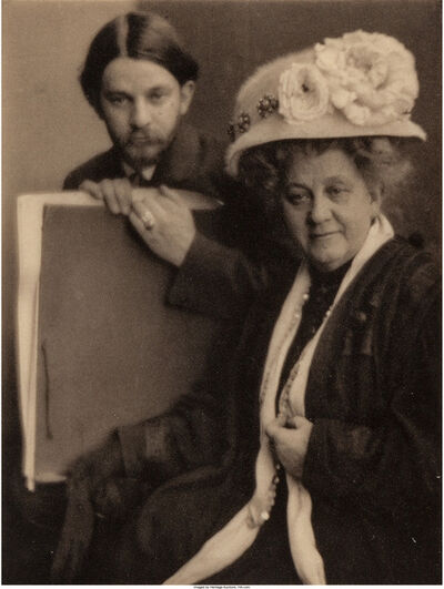 Clarence H. White, 'Alvin Langdon Coburn and His Mother', 1910