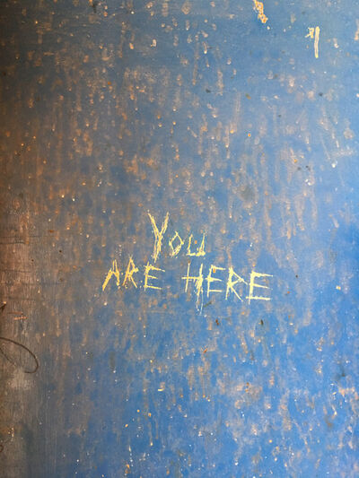 "Richard Misrach, '""You are here,"" Desert Center, California', 2017"
