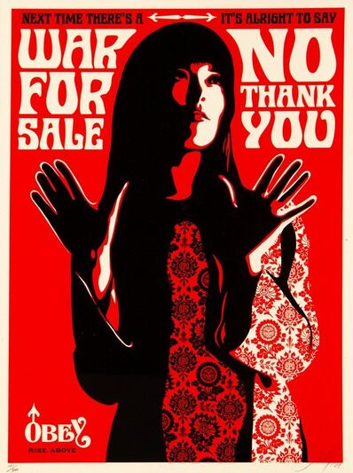 Shepard Fairey, 'War for Sale (Red)', 2007