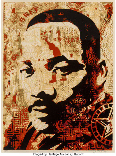Shepard Fairey, 'MLK JR', 2005