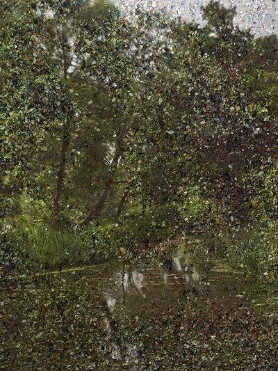"Abelardo Morell, 'Tent-Camera Image: Constable's ""Hay Wain"" View. Flatford, England', 2017"