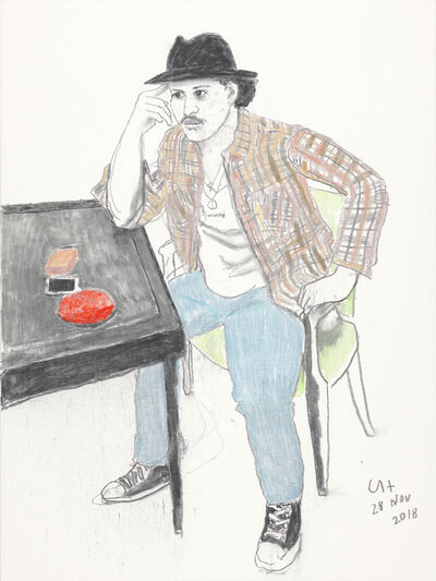David Hockney, 'Bruno Mars', 2018