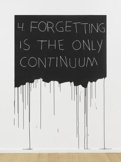 Mel Bochner, 'Forgetting Is The Only Continuum', 1970 / 2018