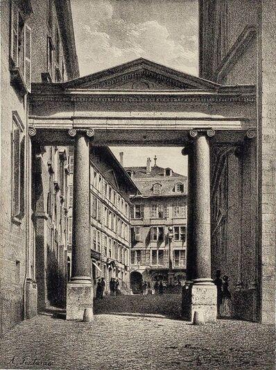 Antonio Fontanesi, 'Geneva, Port de la Treille', 1854