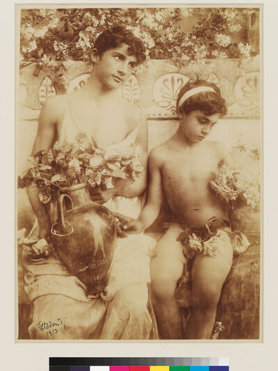 Wilhelm Von Gloeden, 'Two boys with roses', 1913