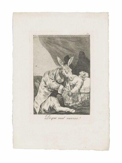 Francisco de Goya, 'De que mal morira? (Of what ill will he die?), from: Los Caprichos', circa 1797-99