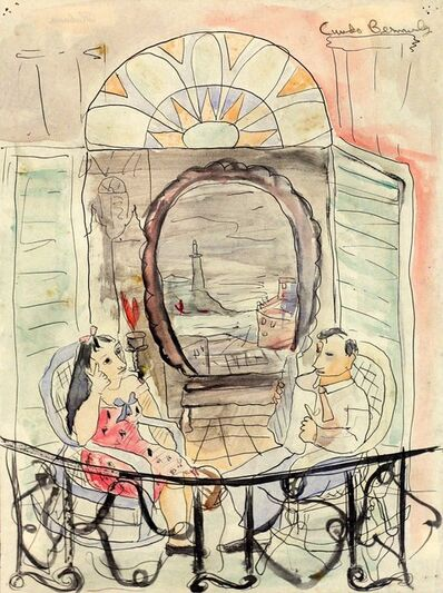 Cundo Bermúdez, 'Couple on Balcony', ca. 1942
