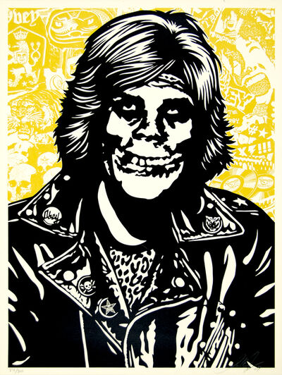 Shepard Fairey, 'Fiend Rocker (Gold)', 2007
