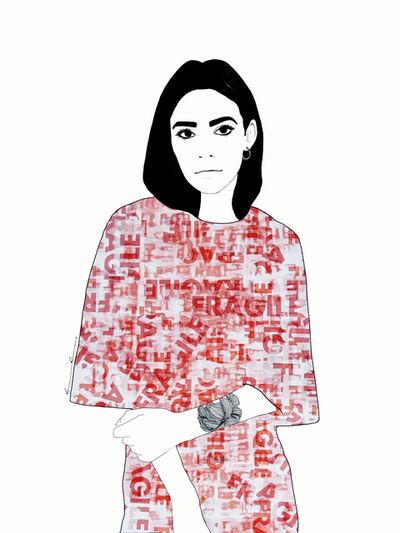 Ramona Russu, 'The girl with black hair/ Fragile 5', 2019