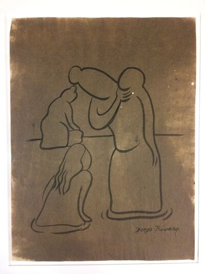 Diego Rivera, 'Bañistas de Tehuantepec'