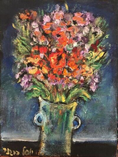 Yosl Bergner, 'Red Bouquet', 2015