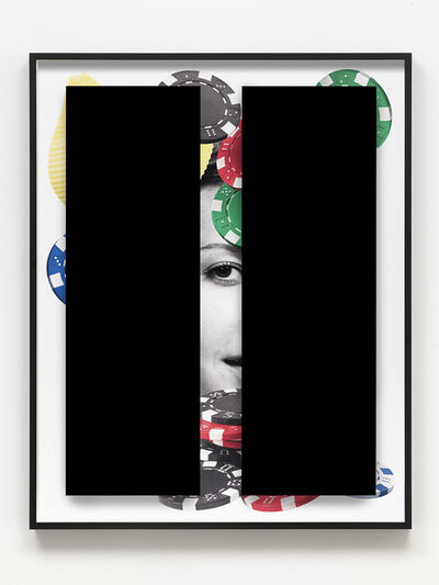 Kathryn Andrews, 'Black Bars: Déjeuner No. 28 (Girl with Poker Chips and Pasta)', 2018