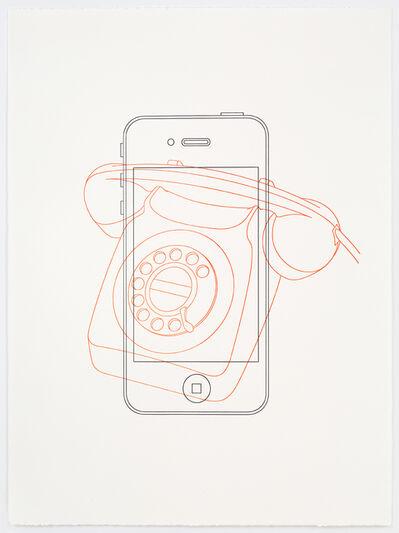 Michael Craig-Martin, 'Telephone /  iPhone', 2017