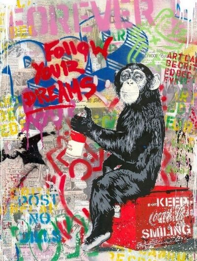 Mr. Brainwash, 'Every Day Life - Follow Your Dreams (Banksy Thrower)', 2020