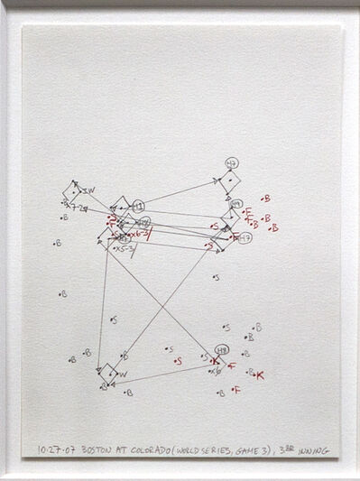 Janet Cohen, '10-27-07 Boston at Colorado (World Series Game 3), 3rd inning, Estimating Space', 2007
