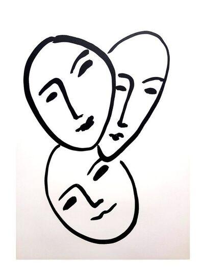 "Henri Matisse, 'Original Lithograph ""Three Faces"" by Henri Matisse', 1952"