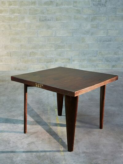 Pierre Jeanneret, 'Square table', ca. 1955
