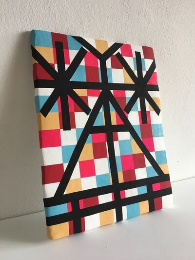 Jill Levine, 'Untitled (Checkered Tablet) ', 2018