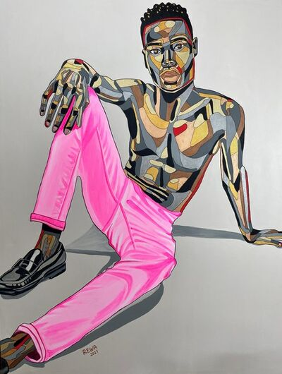 REWA, 'Somto in Pink Jeans | Contemplating Return', 2021