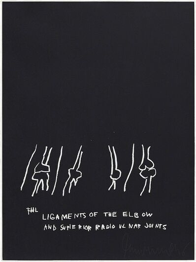 Jean-Michel Basquiat, 'Ligaments of the Elbow, from Anatomy', 1982