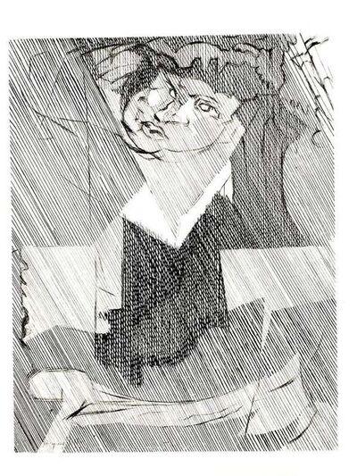Jacques Villon, 'Jacques Villon - Cubist Man - Original Etching', 1951