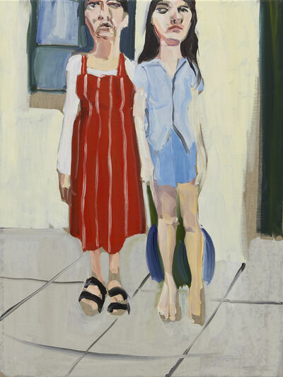 Chantal Joffe, 'Me and Esme in the Garden', 2020
