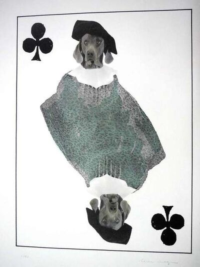 William Wegman, 'limited edition Photo Lithograph Royal Flush Jack', 1990-1999