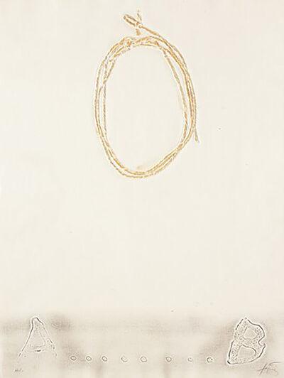 Antoni Tàpies, 'Cordill', 1971