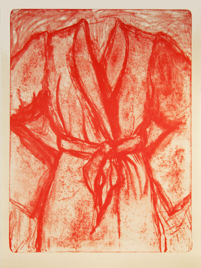 Jim Dine, 'Cream and Red Robe on a Stone', 2009