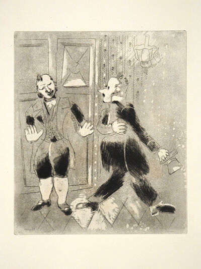 Marc Chagall, 'The Swiss Footman Refuses Chichikov Entry', 1948