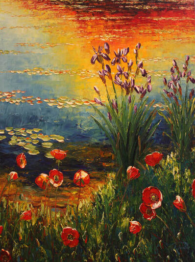 Richard Ponder, 'Poppies in the Late Light', 2019