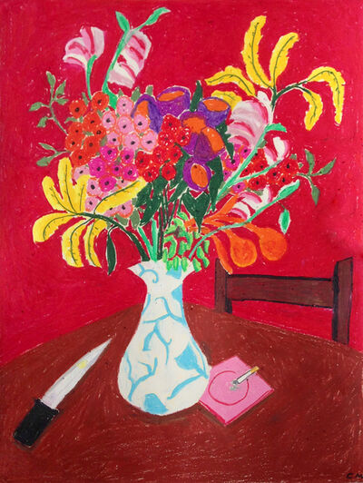 Claire Milbrath, ' Flowers and Knife', 2017