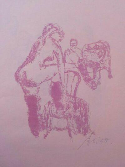 """Artur Liebig, 'Acht Lithographien zu dem Roman Der Favorit von Guy de Maupassant (8 signed original large folio lithographs by Artur Liebig, based on """"Bel Ami"""")', 1950"""