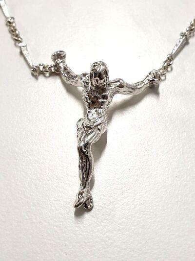 "Salvador Dalí, 'Original Silver Necklace ""Christ"" by Salvador Dali', 1970"