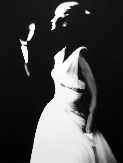 Lillian Bassman, 'Margie Cato, Junior Bazaar [White Dress & White Gloves]', ca. 1950