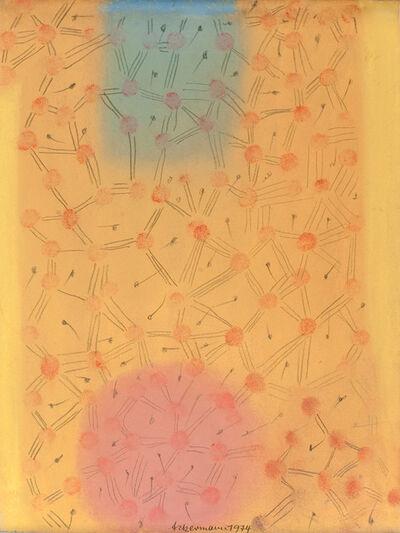 Max Ackermann, 'Ohne Titel (Pole und Struktur)', 1974