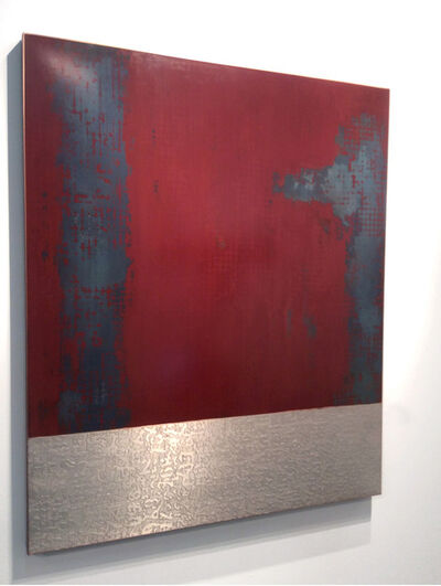 Elisabett Gudmann:    Metal Wall Pieces, 'Urban Relic Red:  6', 2015