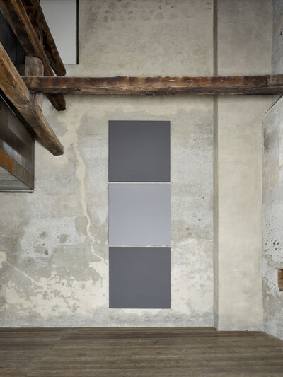 Alan Charlton, 'Block Painting, light grey with dark grey', 2019