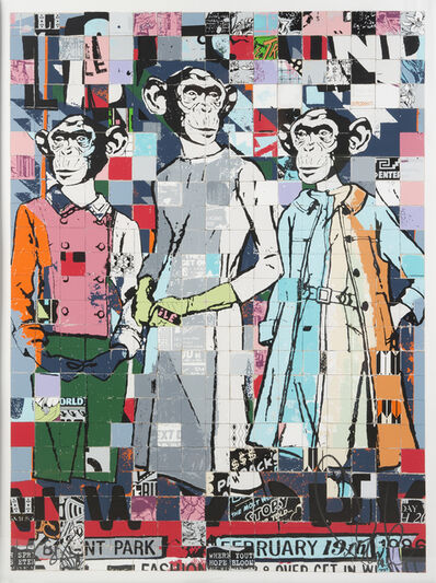 FAILE, 'Fashion Chimps Nyc', 2011