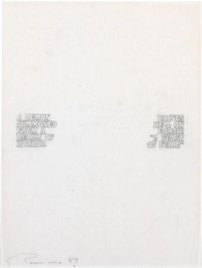 Steven Parrino, 'Untitled', 1987