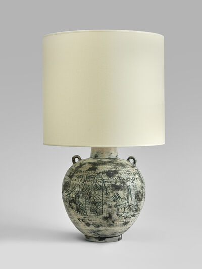 Jacques Blin, 'A ceramic table lamp by Jacques Blin ', ca. 1955