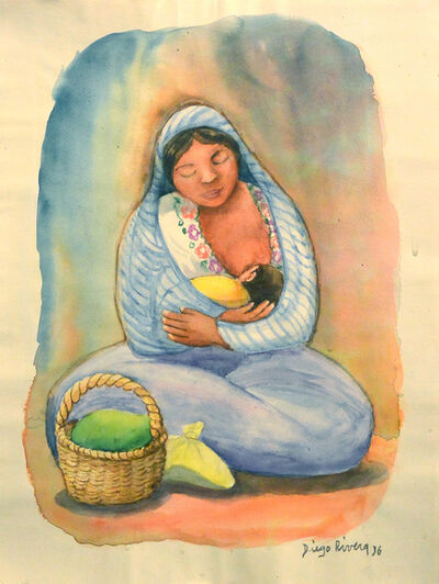 Diego Rivera, 'Mother and Child', 1936