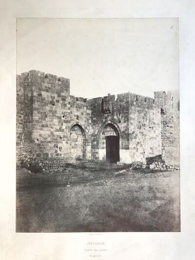 Auguste Salzmann, 'Porte de Jaffa (Jaffa gate)', 1854